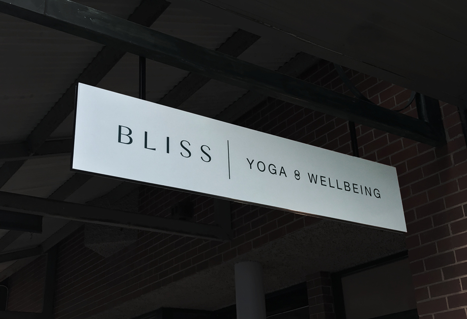 GroszCoLab Bliss Yoga Sign
